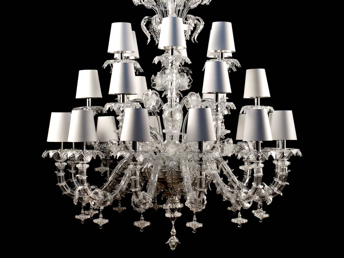 Rezzonico Clear Glass Chandelier