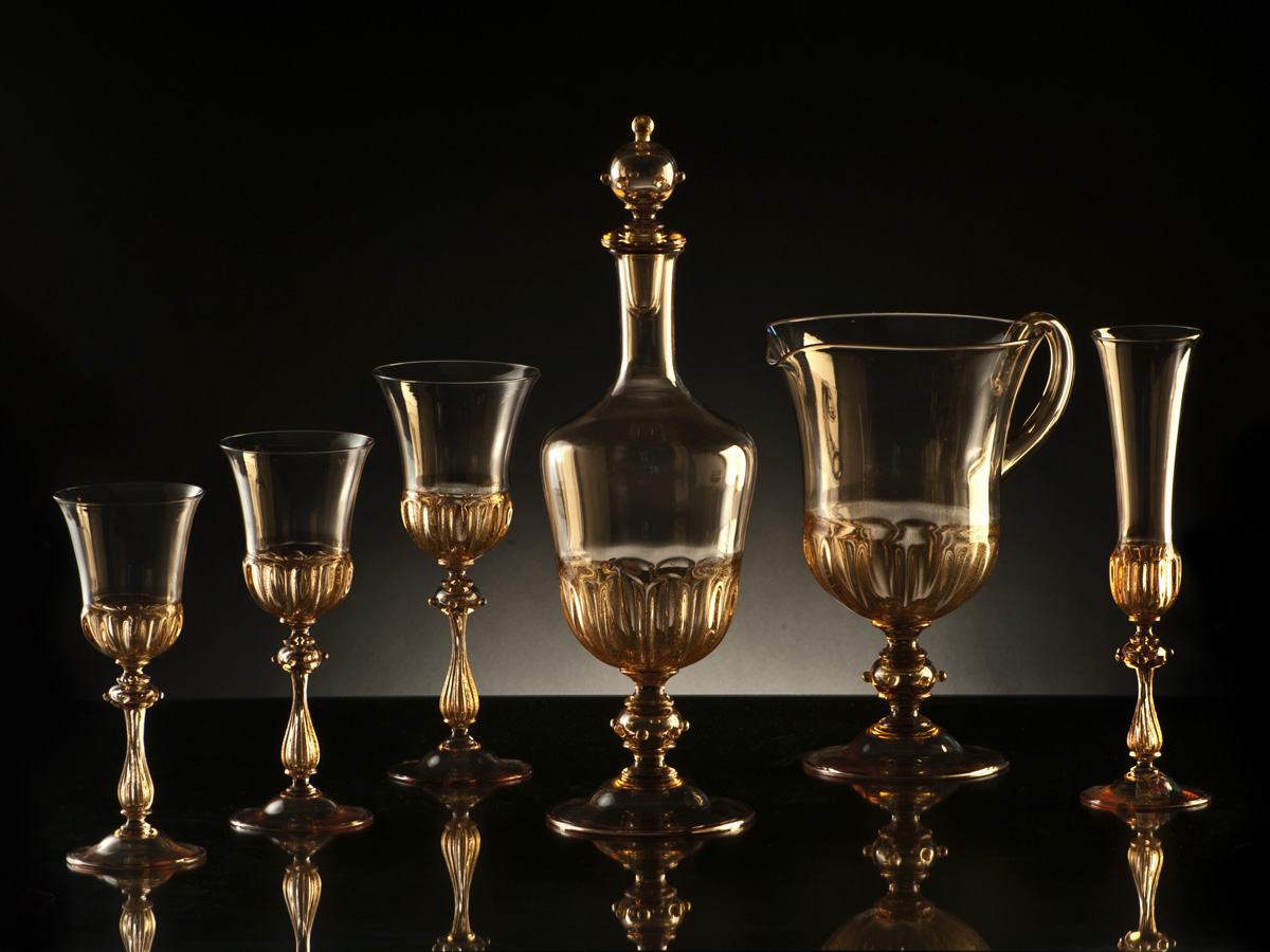 Murano Clear Glassware Sets