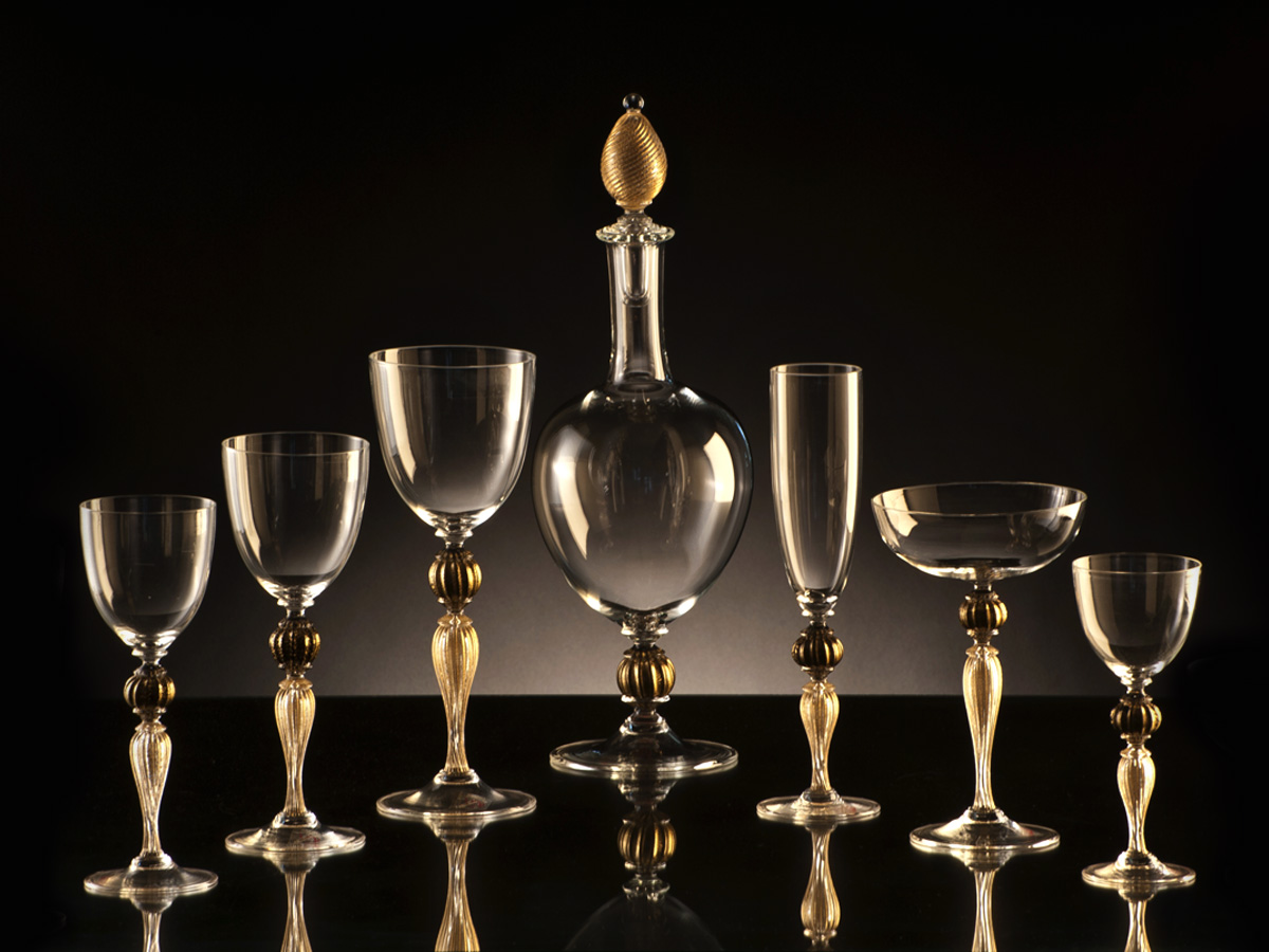 Seguso Gianni Clear Glassware Sets