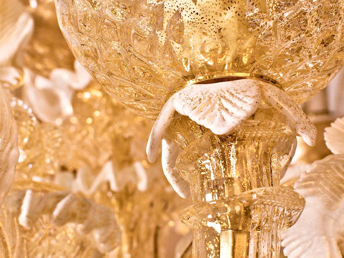 Rezzonico Golden Glass Chandelier