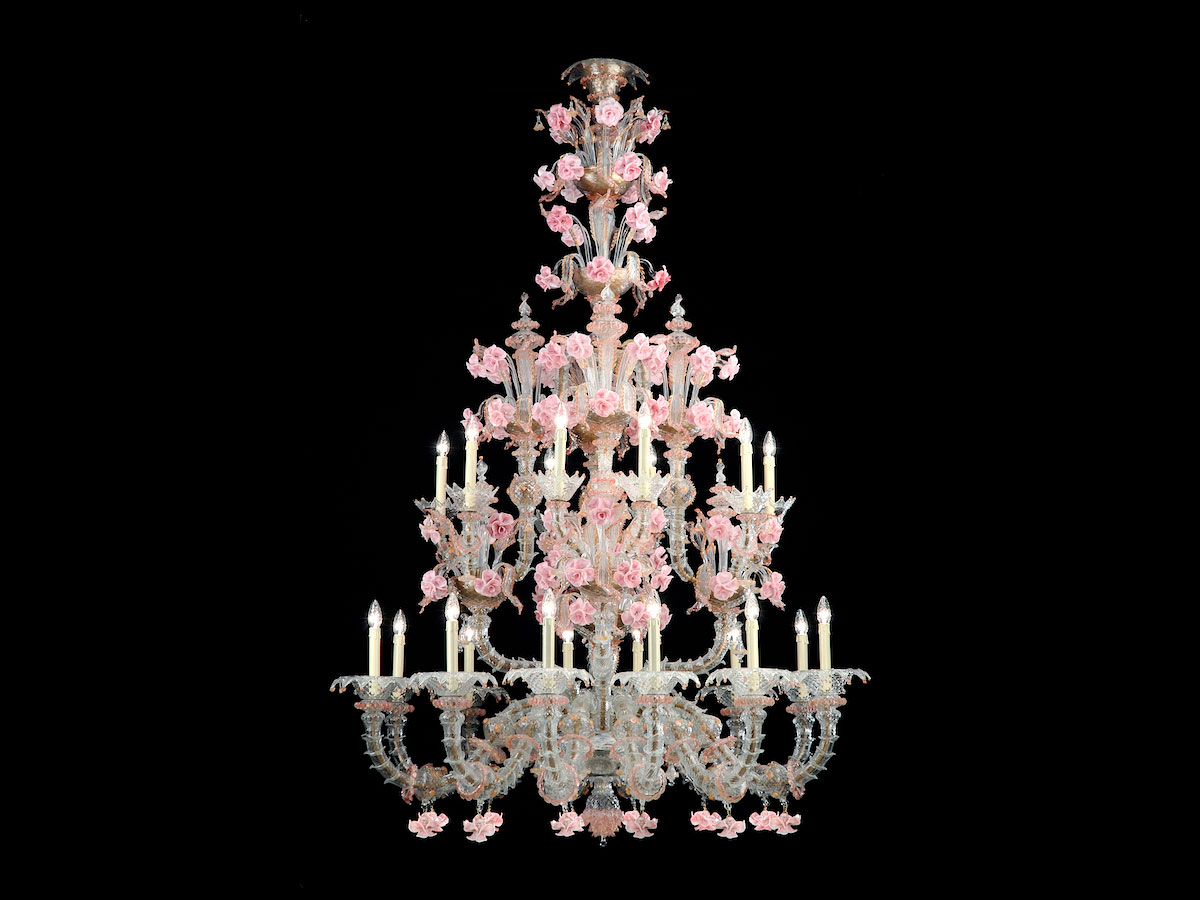 Rezzonico Pink Glass Chandelier