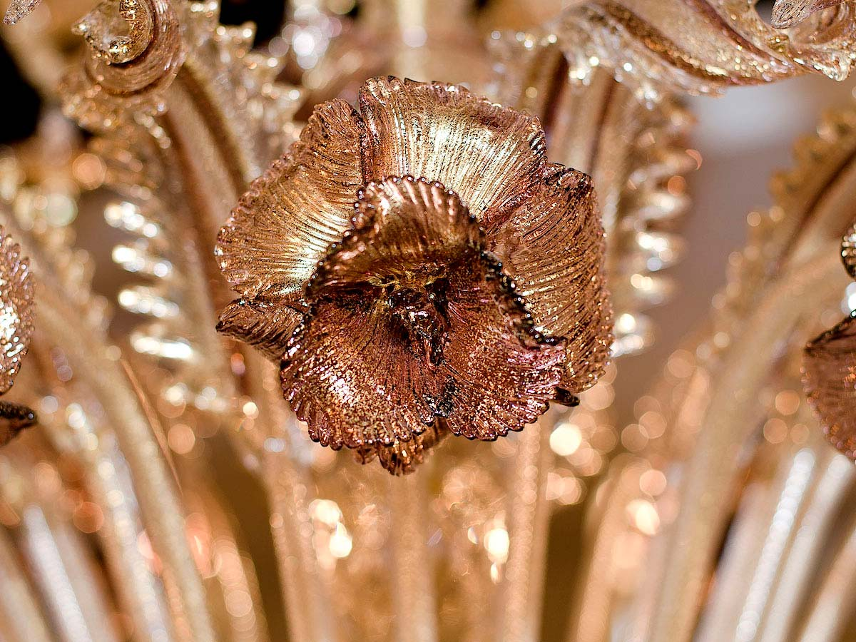 Rezzonico Floral Glass Chandeliers