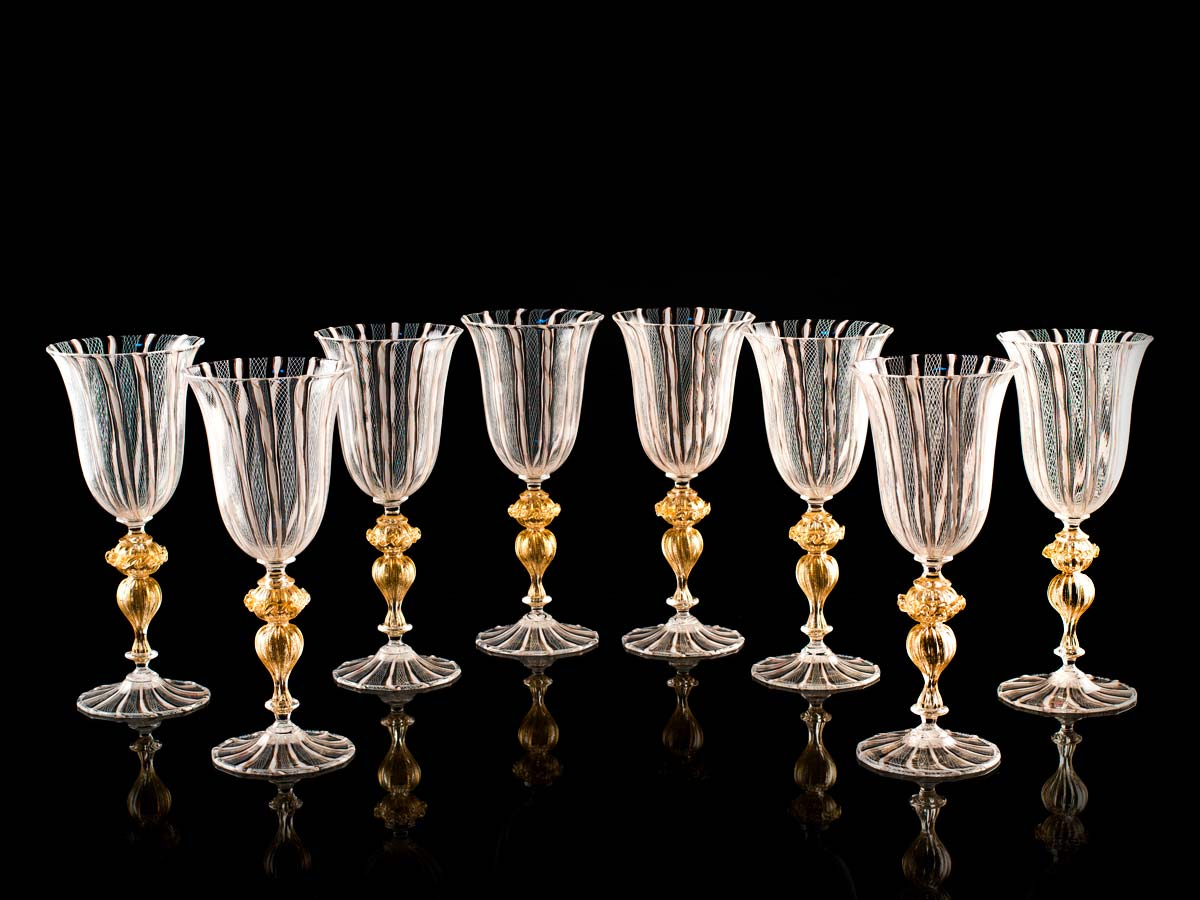 Seguso Gianni Golden Decorative Glassware