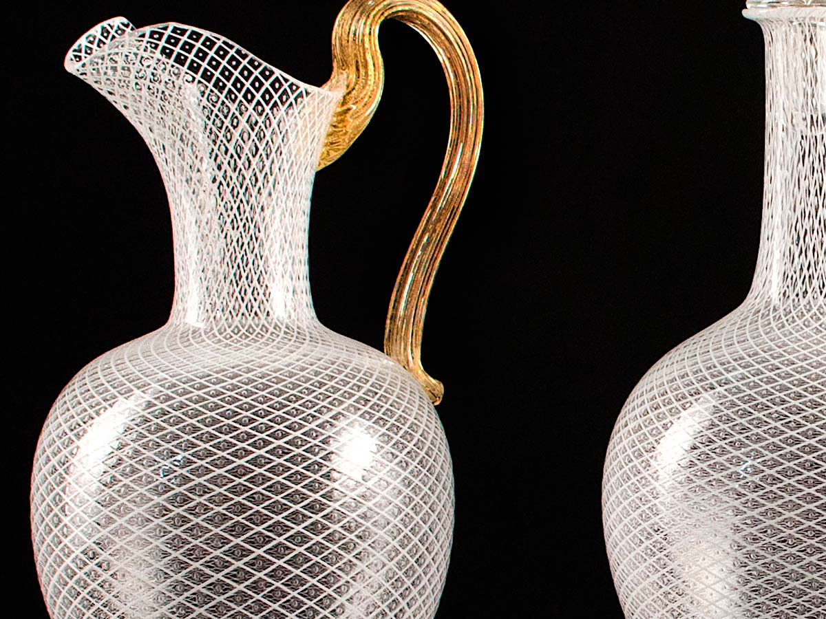 Murano Glass Clear Carafes