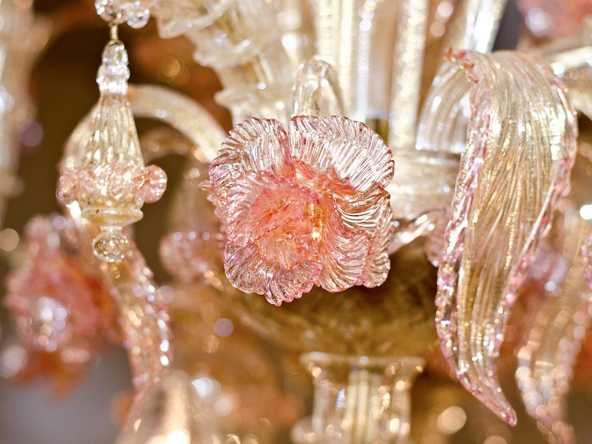Rezzonico Rose Glass Chandelier