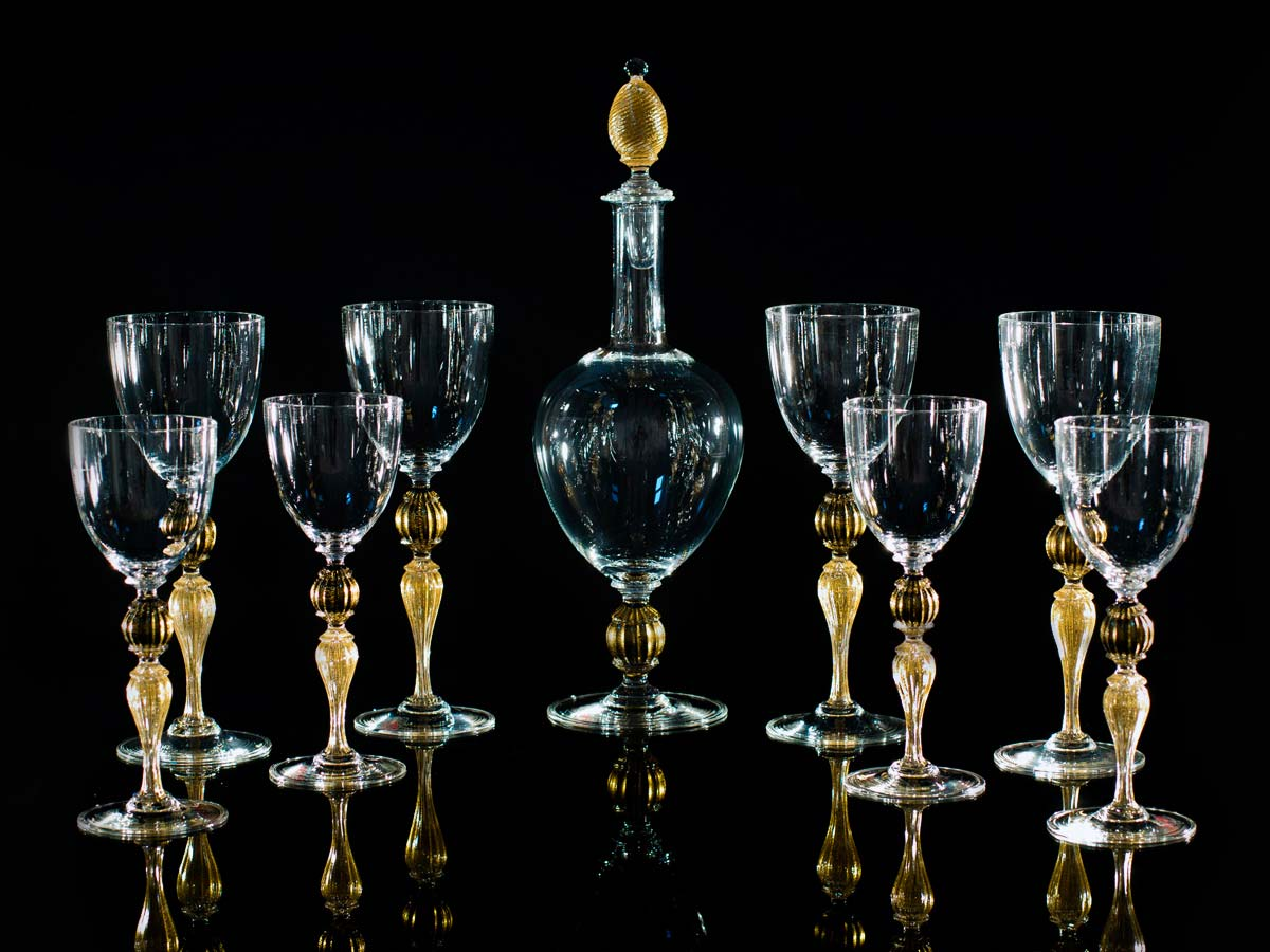 Seguso Gianni Murano Golden Glassware